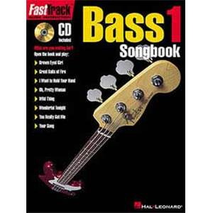 COMPILATION - FAST TRACK BASS SONGBOOK VOL.1 TAB. + CD