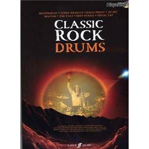 COMPILATION - AUTHENTIC PLAY ALONG CLASSIC ROCK DRUM (MOTORHEAD, AC/DC, DEEP PURPLE, BOSTON) + CD