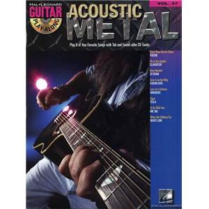 COMPILATION - GUITAR PLAY ALONG VOL.037 ACOUSTIC METAL + CD