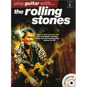 ROLLING STONES - PLAY GUITAR WITH TAB. + CD