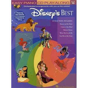 COMPILATION - EASY PIANO CD PLAY ALONG VOL.15 DISNEY'S BEST + CD