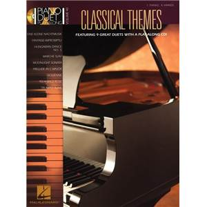 COMPILATION - PIANO DUETS PLAY ALONG VOL.40 CLASSICAL THEMES + CD