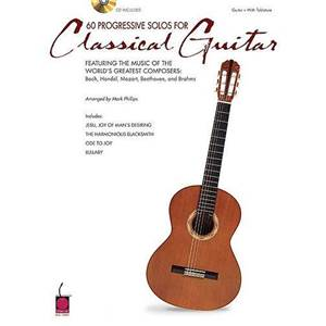 COMPILATION - 60 PROGRESSIVE SOLOS FOR CLASSICAL GUITAR TAB. + CD