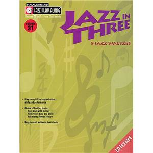 COMPILATION - JAZZ PLAY ALONG VOL.031 JAZZ IN THREE + CD