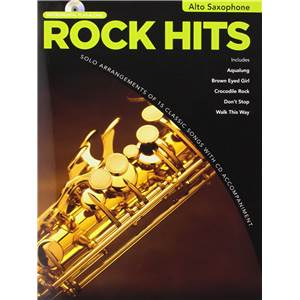COMPILATION - ROCK HITS INSTRUMENTAL PLAY ALONG ALTO SAXOPHONE + CD
