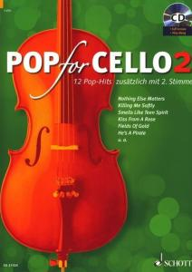 POP FOR CELLO VOLUME 2 +CD  - VIOLONCELLES (1-2)