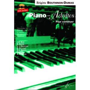 BOUTHINON DUMAS BRIGITTE - PIANO ADULTES VOL.2 METHODE POUR CONTINUER + CD