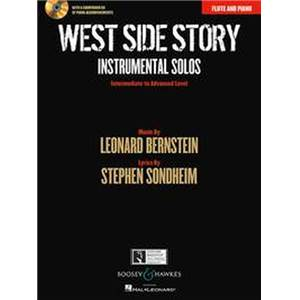 BERNSTEIN LEONARD - WEST SIDE STORY INSTRUMENTAL SOLOS + CD (10 PIECES)  - FLUTE ET PIANO