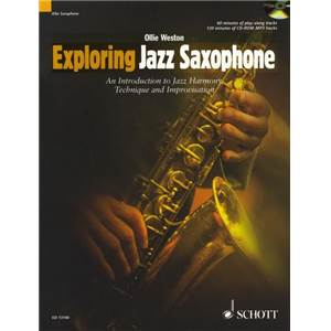 WESTON OLLIE - EXPLORING JAZZ SAXOPHONE + CD SAXOPHONE MIB