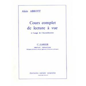 ABBOTT ALAIN - LECTURE A  VUE VOL.1 - ACCORDEON