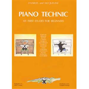 HERVE/POUILLARD - PIANO TECHNIC - 101 STUDIES FOR BEGINNERS - PIANO