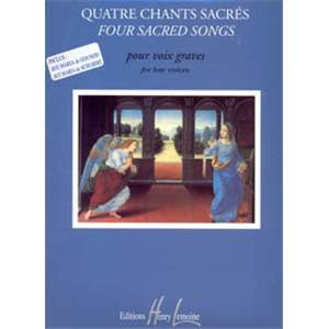 BONNARDOT JACQUELINE - CHANTS SACRES (4) - VOIX GRAVES ET PIANO