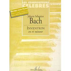 BACH JEAN SEBASTIEN - INVENTION RE MIN. - PIANO