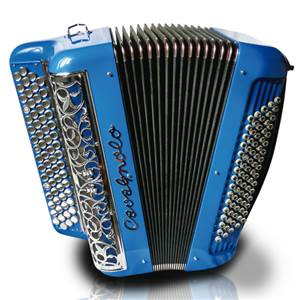 ACCORDEON  BOUTONS CAVAGNOLO SUPER JUNIOR 4 BLEU