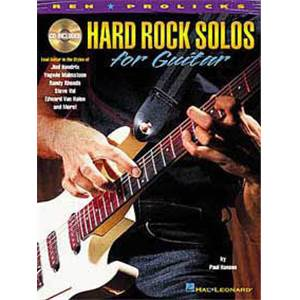 HANSON PAUL - HARD ROCK SOLOS GUITAR REH TAB. + CD