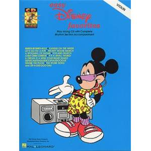DISNEY - EASY FAVORITES VIOLON + CD