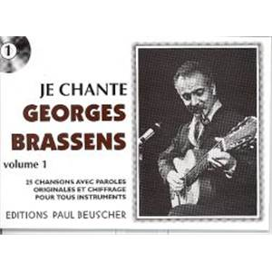 BRASSENS GEORGES - JE CHANTE BRASSENS - PAROLES ET ACCORDS
