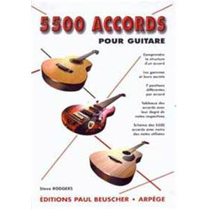 RODGERS STEVE - 5500 ACCORDS POUR GUITARE