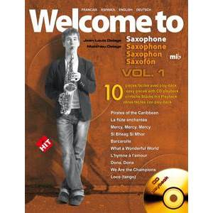 COMPILATION - WELCOME TO SAXOPHONE VOL.1 MIB + CD