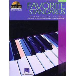 COMPILATION - PIANO PLAY ALONG VOL.015 FAVORITE STANDARDS + CD