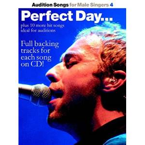 COMPILATION - AUDITION SONGS FOR MALE SINGERS : PERFECT DAY, TROUBLE AND MORE + CD