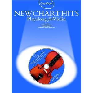 COMPILATION - GUEST SPOT NEW CHART TITLES PLAY ALONG FOR VIOLIN + CD