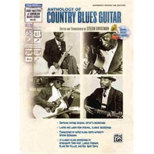 GROSSMAN STEFAN - ANTHOLOGY OF COUNTRY BLUES GUITAR TAB. + CD