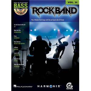 COMPILATION - BASS PLAY ALONG VOL.21 ROCK BAND + CD
