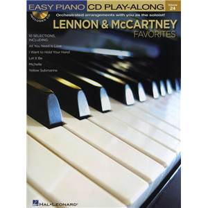 LENNON / MCCARTNEY - EASY PIANO CD PLAY ALONG VOL.24 FAVOURITES + CD