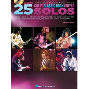 RUBIN DAVE - 25 GREAT CLASSIC ROCK GUITAR SOLOS + CD