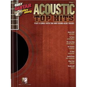 COMPILATION - EASY GUITAR PLAY ALONG VOL.002 ACOUSTIC TOP HITS TAB. + CD