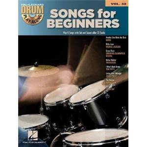 COMPILATION - DRUM PLAY ALONG VOL.32 SONGS FOR BEGINNERS + CD