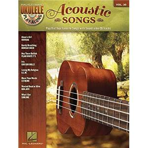 COMPILATION - UKULELE PLAY ALONG VOL.30 ACOUSTIC SONGS + CD