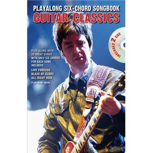COMPILATION - PLAY ALONG 6 CHORD SONGBOOK GUITAR CLASSICS + 2CDS