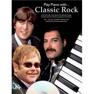 COMPILATION - PLAY PIANO WITH CLASSIC ROCK + CD