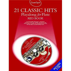 COMPILATION - GUEST SPOT 21 CLASSIC HITS RED VOL.POUR FLUTE TRAVERSIERE + 2CDS