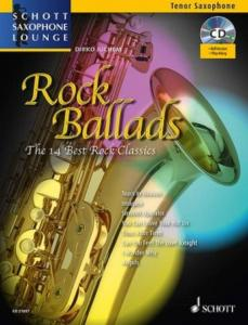 COMPILATION - ROCK BALLADS FOR TENOR SAXOPHONE (SIB) +CD
