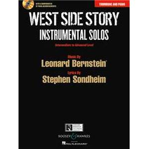 BERNSTEIN LEONARD - WEST SIDE STORY INSTRUMENTAL SOLOS + CD (10 PIECES)  - TROMBONE ET PIANO