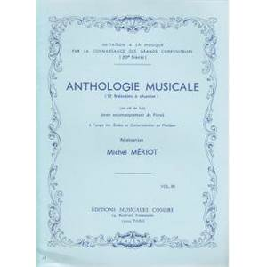 MERIOT MICHEL - ANTHOLOGIE MUSICALE VOL.3 (12 MELODIES A  CHANTER) - FORMATION MUSICALE