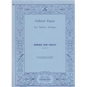 FAURE GABRIEL - ROMANCE SANS PAROLES OP.17 NO.3 POUR VIOLON ET PIANO