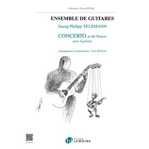 TELEMANN GP - CONCERTO EN RE MAJ. - 4 GUITARES (CONDUCTEUR ET PARTIES)