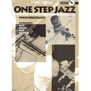 PELLEGRINO MICHEL - ONE STEP JAZZ METHODE D'IMPRO POUR INSTRU. EN DO (UT) + CD