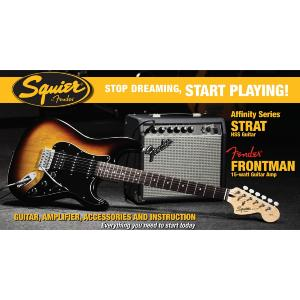PACKS GUITARE ELECTRIQUE SQUIER AFFINITY STRATOCASTER SUNBURST