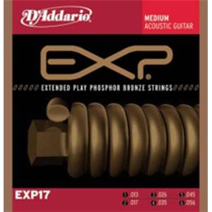 JEU DE CORDES GUITARE FOLK D'ADDARIO EXP 17 MEDIUM 13-56