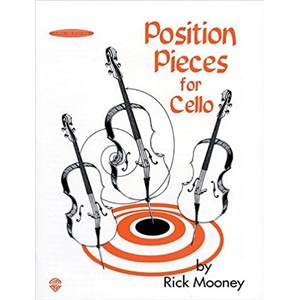 MOONEY RICK - POSITION PIECES FOR CELLO