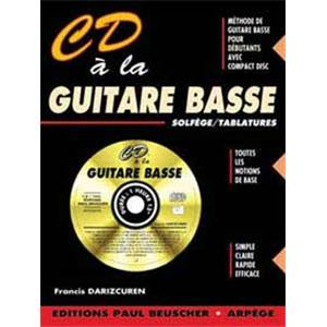 DARIZCUREN FRANCIS - CD A LA GUITARE BASSE METHODE INTERACTIVE + CD