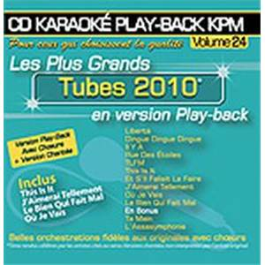 COMPILATION - CD KARAOKE VOL.24 TUBES 2010 AVEC CHOEUR + VERSIONS CHANTEES