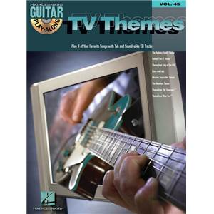 COMPILATION - GUITAR PLAY ALONG VOL.045 TV THEMES + CD