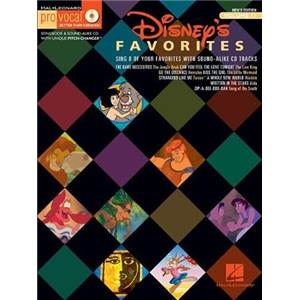 DISNEY - PRO VOCAL FOR MEN SINGERS VOL.17 DISNEY FAVOURITES + CD