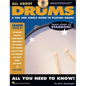 MATTINGLY RICK - ALL ABOUT DRUMS A FUN AND SIMPLE GUIDE TO PLAYING DRUMS + CD